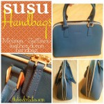 SUSU Melissa – Saffiano Leather Dome Handbag Review!  + Save 20% & Enter to Win A SUSU Handbag!