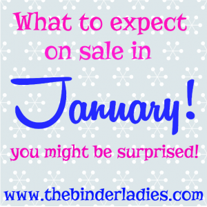 January: What to Expect on Sale This Month!
