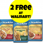 Walmart:  Possible 2 FREE Starkist Gourmet Selects Tuna Pouches!