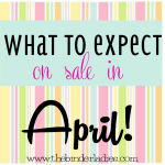 What to expect on sale in April