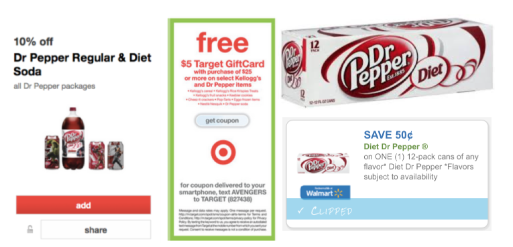 Dr. Pepper Coupon and Target Triple Stack!