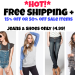 *HOT!* Tilly's:  FREE Shipping + Extra 15% off or 50% off Sale Items = Jeans & Shoes only $4.99 + Much More!