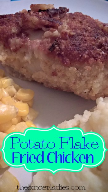 potato flake fried chicken