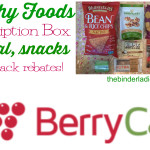 BerryCart Healthy Foods Subscription Box Review!  Get Cash Back on Organic, Gluten-Free & Natural Foods!