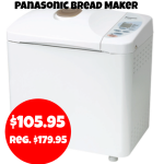 Panasonic: Highly Rated Bread Maker only $105.95 + FREE Shipping! Regularly $179.95
