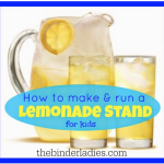 Summer Fun:  How to Make & Run A Successful Lemonade Stand For Kids!