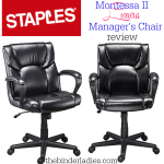 Staples Montessa II Luxura Managers Chair Review!  Below Budget, Above Expectations