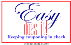 Easy Does It: Keeping Couponing in Check!