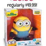 Amazon: Sing n Dance Minion Bob only $28.88! Regularly $49.99!