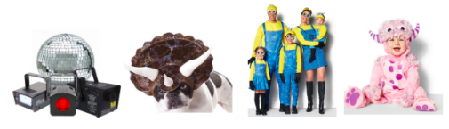 up to 50% off Halloween costumes
