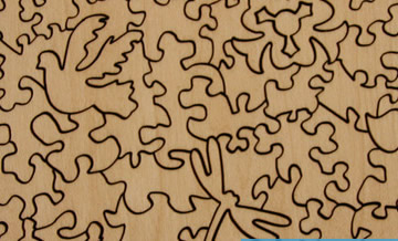 Peaceful Wooden Puzzles Cuts