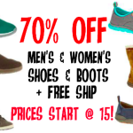 70% off boots and shoes