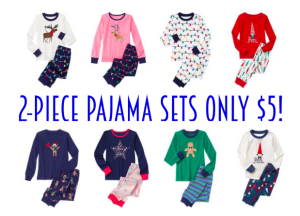 *HOT!* 2-piece pajama sets only $5
