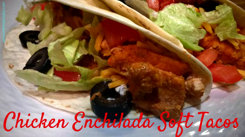 Chicken Enchilada Soft Tacos