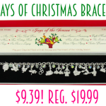 12 Days of Christmas Sterling Silver Charm Bracelet only $9.39! Regularly $19.99