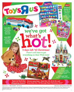 """Toys""""R""""Us offers extended hours, savings for last-minute holiday shopping"""