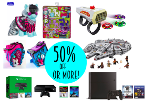 50% or More off Popular Toys!  My Little Pony, Star Wars, PS4, Xbox One, Minions + Much More!
