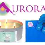 Aurorae Yoga Scented Soy Wax 3-Wick Candles & Yoga Mat Flip Flops Review
