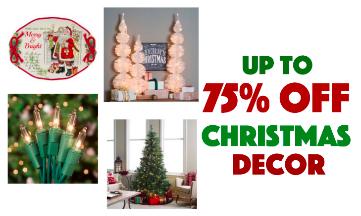 Up to 75 off holiday amp christmas decor great deals on trees