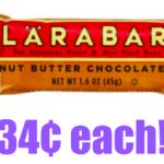 Larabar Gluten Free Snack Bars only 34¢ each Shipped! Regularly $1