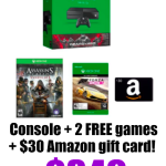 Xbox One 500GB Gears of War Bundle + 2 FREE Games + $30 Amazon Gift Card only $349!