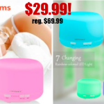 Aromatherapy Essential Oil Diffuser Ultrasonic Air Humidifier  $29.99! Regularly $69.99