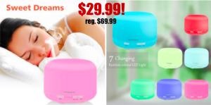 Oil Diffuser only $29.99 (reg. $69.99)