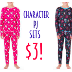 Girls' Character Pajama Sets only $3 (reg. $9.88)!  Frozen, Monster High + More!