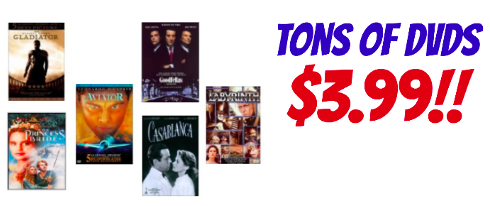 Tons of DVDs only $3.99 each