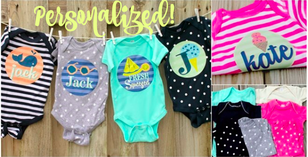 Personalized Baby Bodysuits