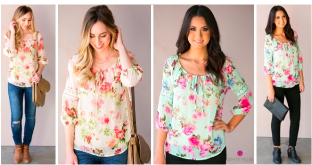 Fond of Floral Tie Blouses $16.99!