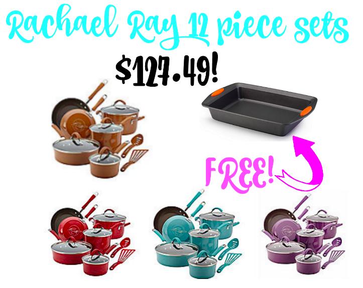 Rachael Ray 12 Piece Sets $127.49 + freebie