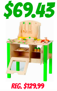 Hape My Creative Cookery Club Wooden Kitchen Set only $69.43! Regularly $129.99