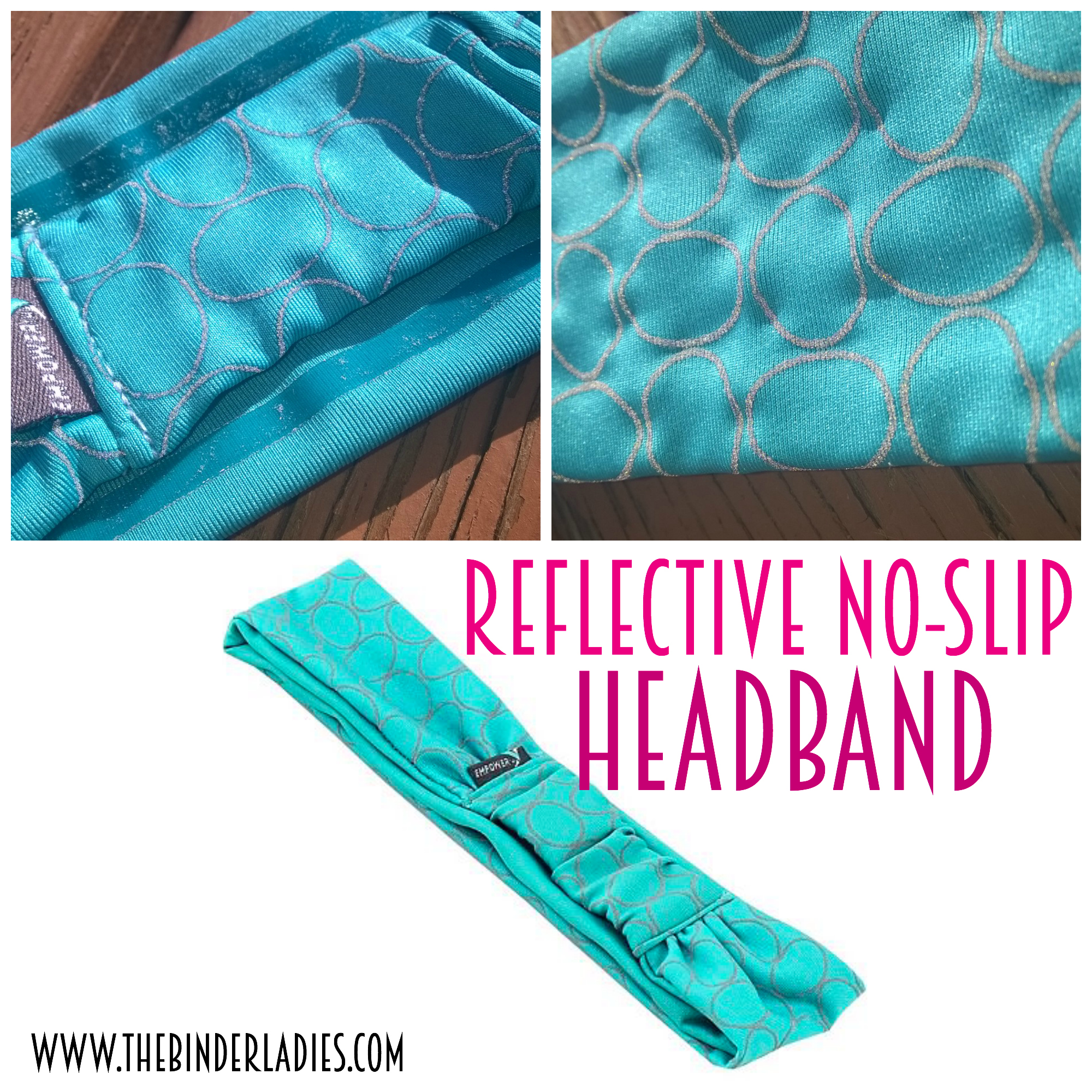Reflective No-Slip Headband from Empower Fitness - workout products made for women!