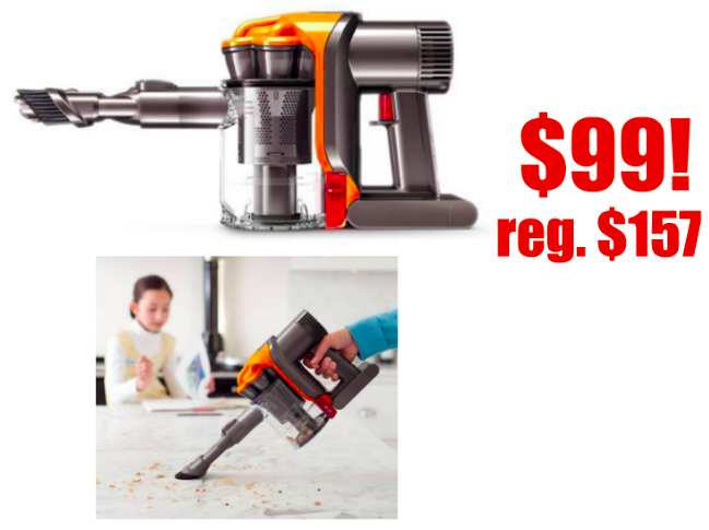 Dyson Handheld Vacuum only $99 (reg. $157) - Near perfect rating!