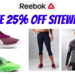 Save 25% off Sitewide at Reebok – GREAT Deals on Shoes, Accessories and Apparel!