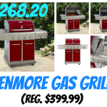 4-Burner Red Gas Kenmore Grill with Searing Side Burner $268.20! Regularly $399.99