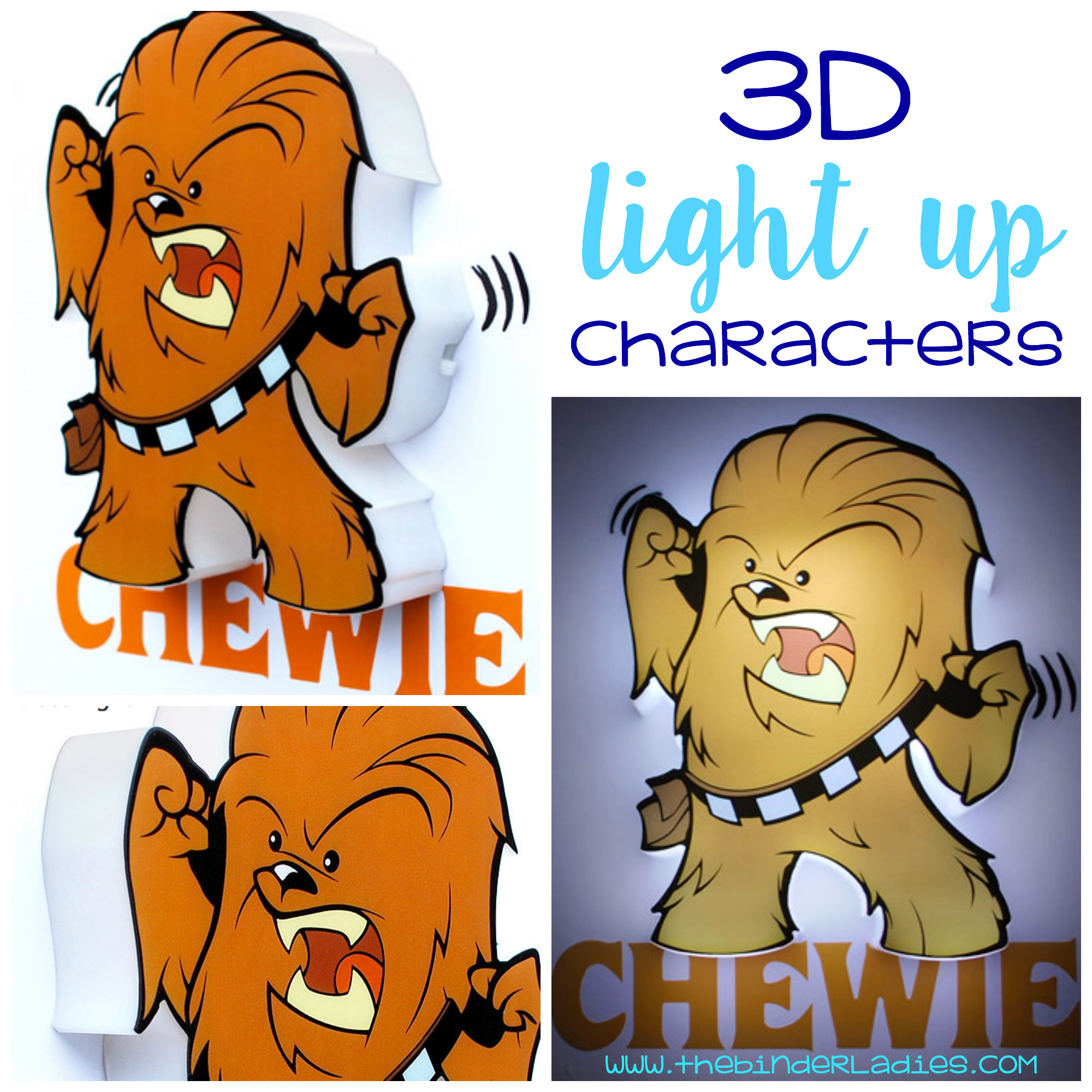 3D Deco Lights Mini Lights - favorite characters come to life on your wall!
