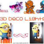 3D Mini Deco Lights – Favorite Characters Light Up The Room!