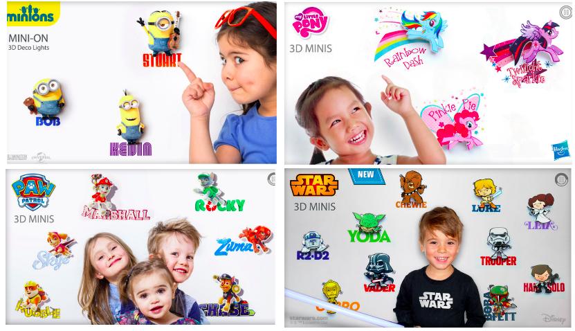 Mini 3D Deco Lights - all of your child's favorite characters!