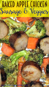 Baked Apple Chicken Sausage & Veggies Recipe