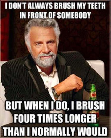 brushing teeth meme