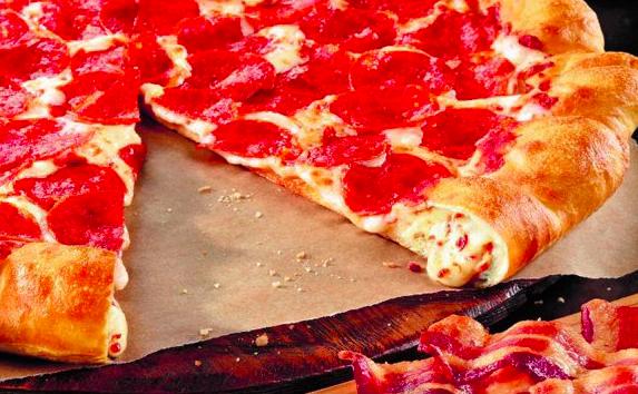 Pizza Hut Bacon Stuffed Crust Pizza