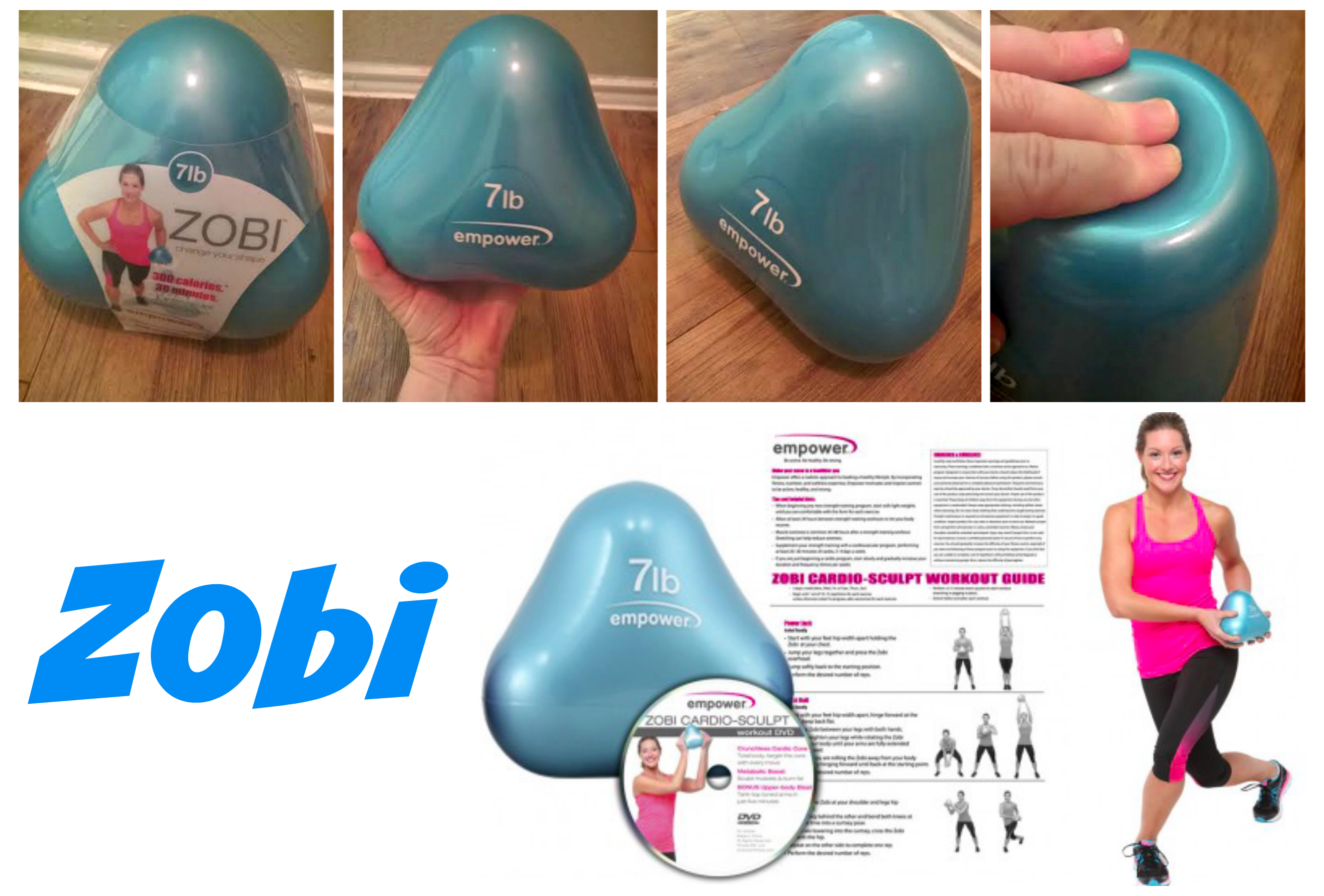 Zobi 7 lb workout ball from Empower Fitness