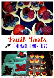 Mini Fruit Tarts with Lemon Curd Recipe