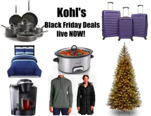*HOT!* Kohl's Black Friday Deals Live NOW Online!