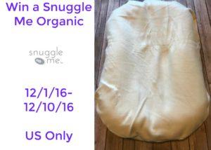 Giveaway! Win a Snuggle Me Organic!