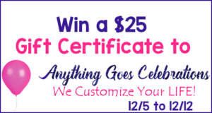 Giveaway! Enter to Win a $25 Gift Certificate to Anything Goes Gifts!