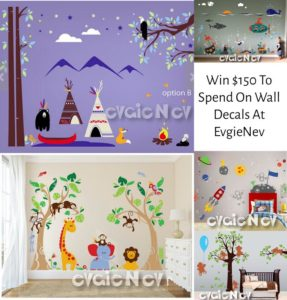 Giveaway! Enter to Win $150 to Spend on Wall Decals at EvgieNev!