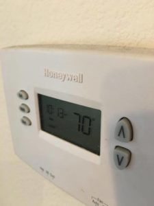 Thermostat at 70